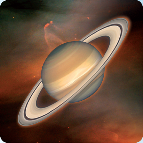 3D space magnet – Saturn – Planets of the Solar system