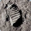 3D space magnet – Footprint on the Moon – Space flight