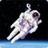 3D space magnet – Astronaut on space walk – Space flight