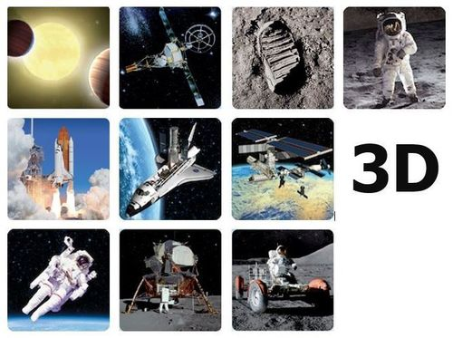 10 pc. 3D space magnets – Space flight