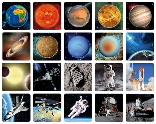 20 pc. 3D space magnets – Solar system and space flight