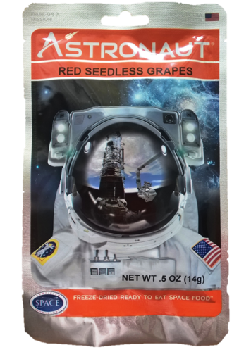 Astronaut Space Food – Fruits: Red Seedless Grapes