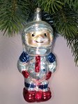 Thuringian christmas tree glass decoration - Astronaut white