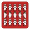 Design set – Cork coaster Astronaut, red