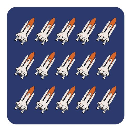 Design set – Cork coaster Space Shuttle, blue