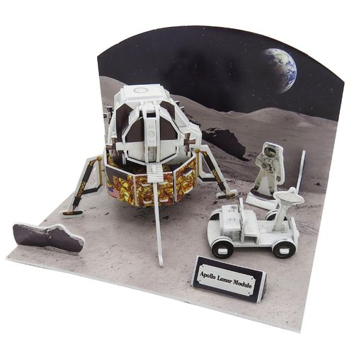 Physical 3D puzzle – Moon landing