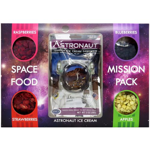 Astronaut Space Food – Mission pack, ice cream & fruits