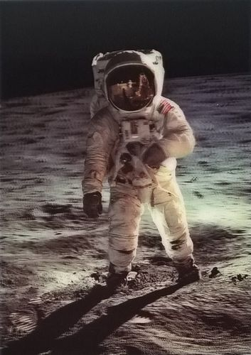 3D postcard – Moon walk