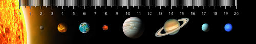 3D ruler – Planets of the Solar system
