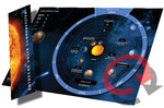 Planet data wheel Solar system with bookmark (German)