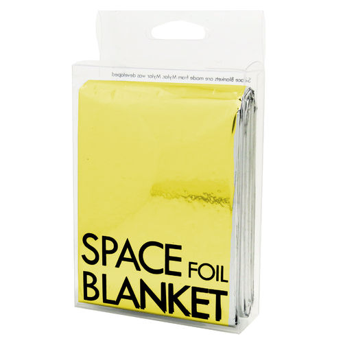 Space foil blanket – Gold colours, 130 x 210 cm