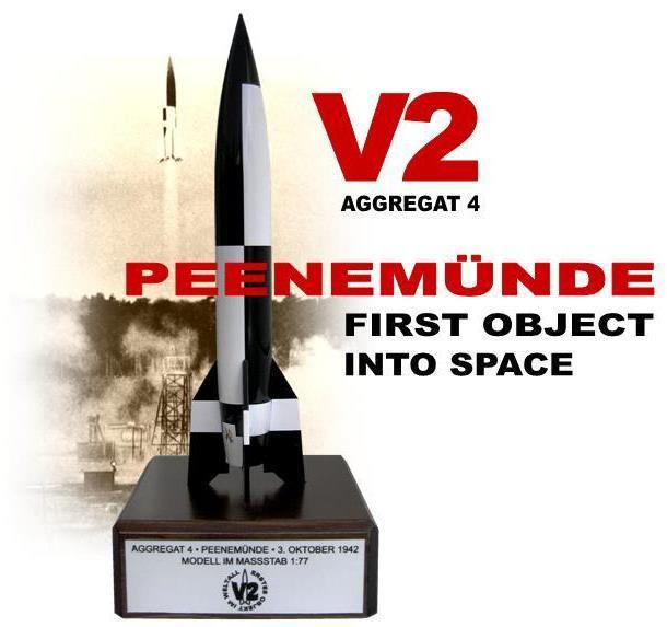 Aggregat 4 / V-2 Rocket – First object in outer space, 3 October 1942, Peenemünde, Germany