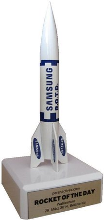 Samsung Rocket of the Day Award - Rakete individuell - weltraumladen - rocket individual, customized\\n\\n07.02.2020 16:53