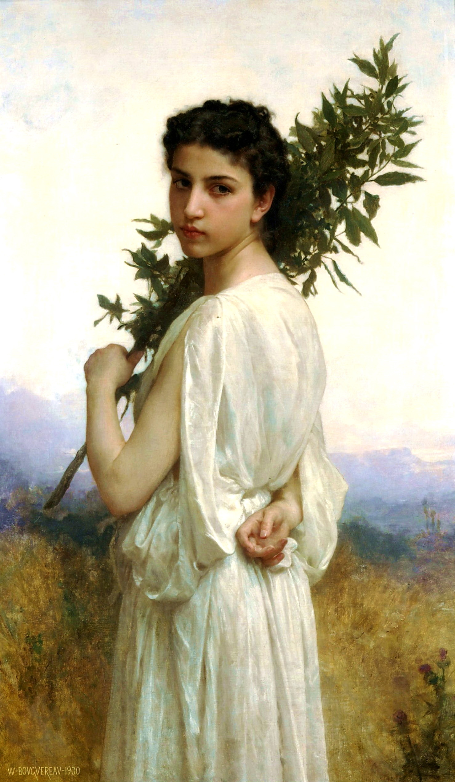 William-Adolphe Bouguereau 1825-1905 - Laurel Branch (Lorbeerzweig) 1900