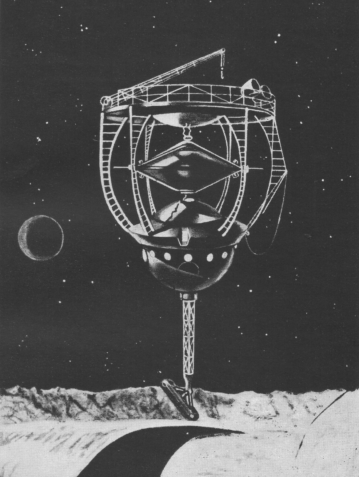 The Moon car - Draft by Hermann Oberth