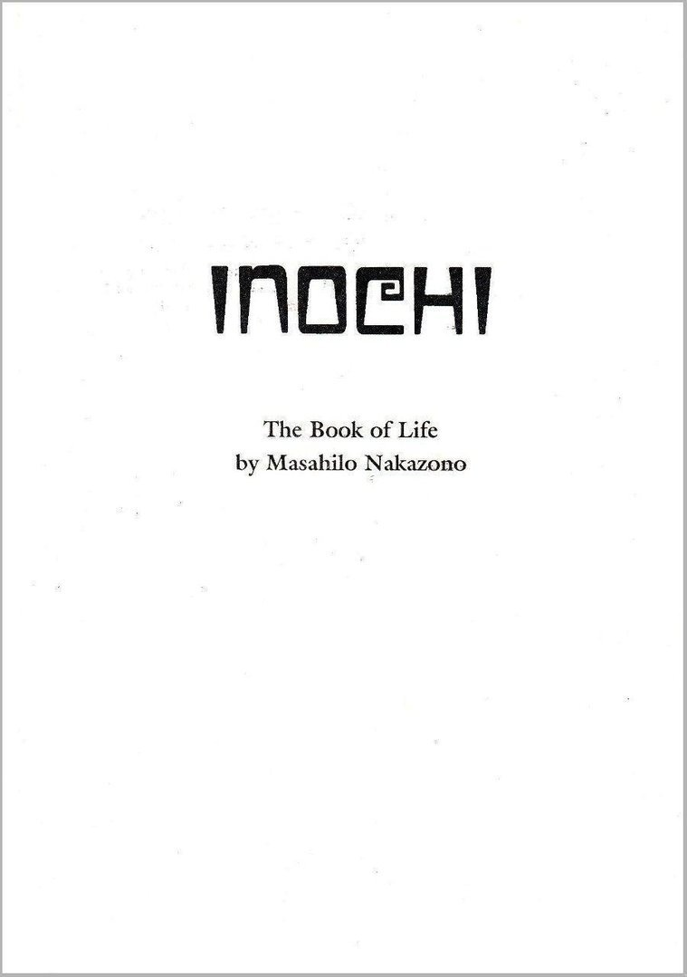 Inochi – The Book of Life (Masahilo Nakazono) - pkp Verlag - Kototama Books